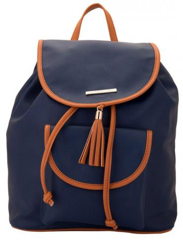 Synthetic Lilac Women Backpack - Blue
