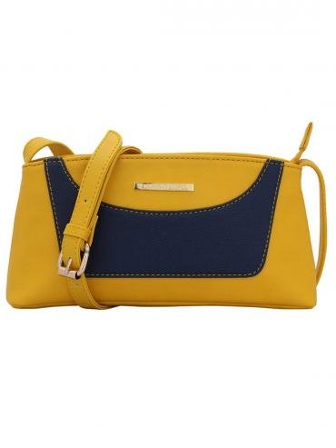 Splendid Women Synthetic Sling Bag - Yellow