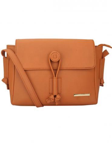 Suntan Women Synthetic Sling Bag - Tan