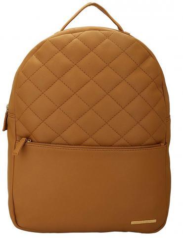 Wheaten Women�s Quilting Laptop Backpack - Beige