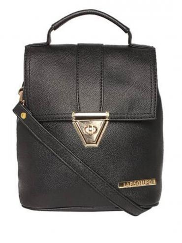 Synthetic Candy Women Backpack - Black