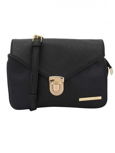 Crush Women Synthetic Sling Bag - Black