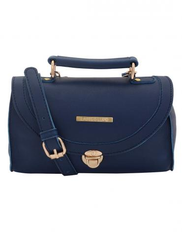 Textured Blue Women Synthetic Sling Bag - Blue