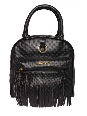 Synthetic Gross Guff Women Backpack - Black