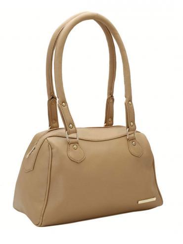 Women Synthetic Handbag - Beige