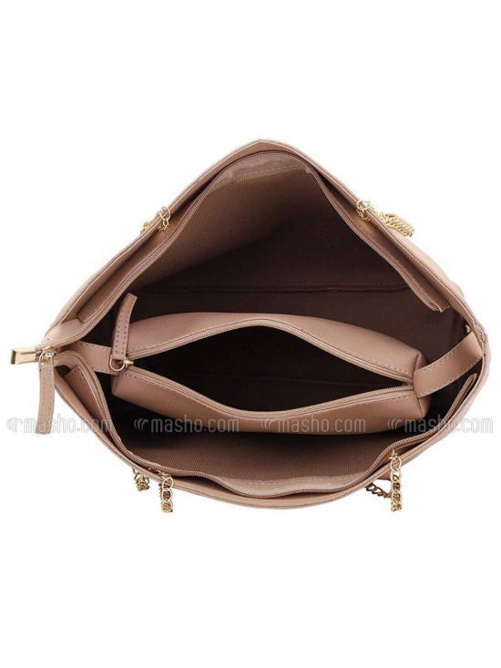 Bag In Bag  Women Tote - Light Beige