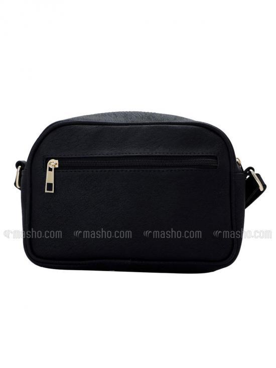 Women Synthetic Sling Bag - Black