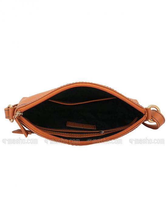 Drab Women Synthetic Sling Bag - Tan