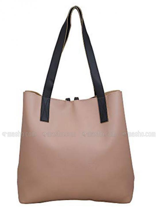 Synthetic Women Tote Bag - Beige
