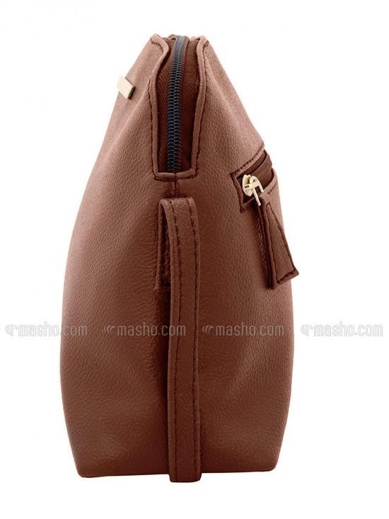 Ecru Women Synthetic Sling Bag - Tan