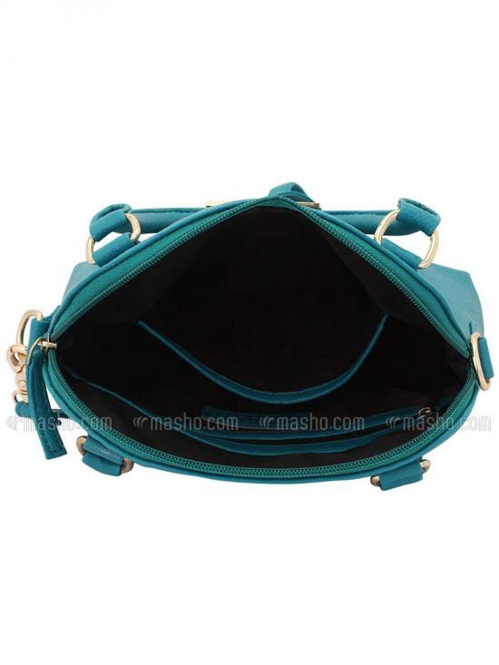 Pale Hued Women Neno Synthetic Handbag - Turquoise