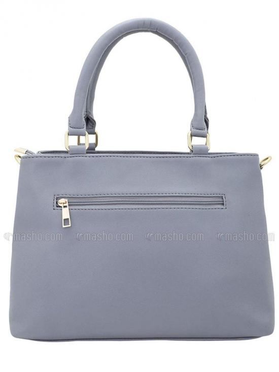 Synthetic Sewing Embroidery Women Handbag -Grey