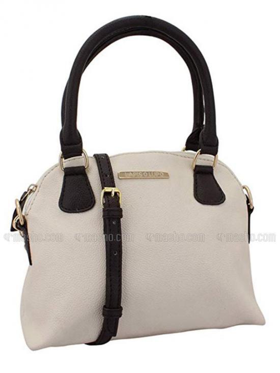 Ivory Women Neno Synthetic Handbag - Off white