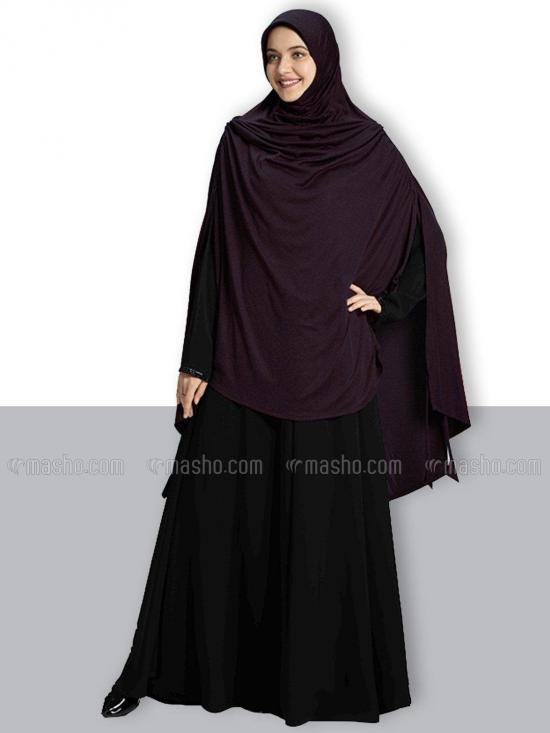 Ulema DD Soft Drip Drop Fabric Khimar In Wildberry