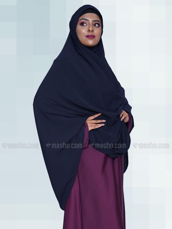 Salafi Plain BSY Instant Hijab in Navy Blue