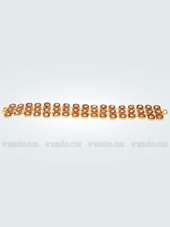 Awadhi Handmade High Quality Brass Golden Polish Bracelets With Meenakari Work In Gold