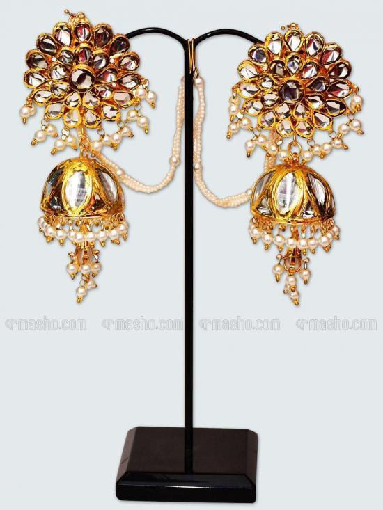 Awadhi Handmade High Quality Brass With Golden Polish Earings