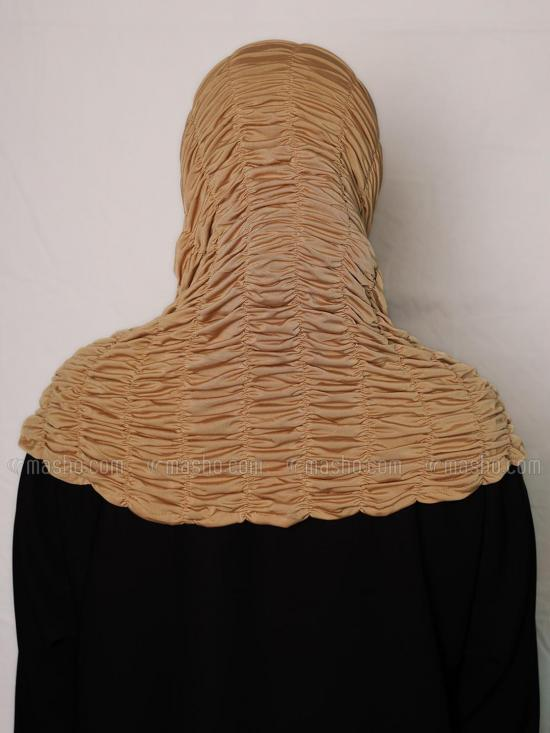 Zarah instant Hijab With Elastic Bands In Beige