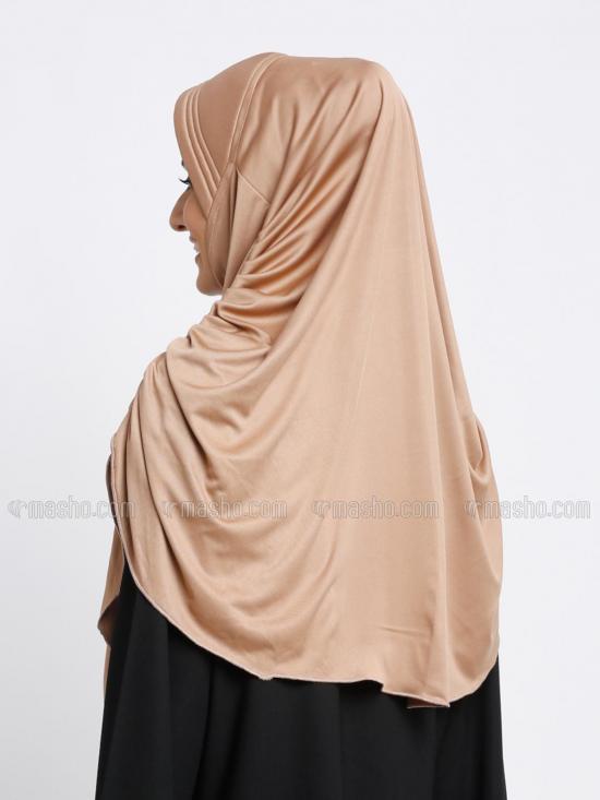 Ruwaa Instant Hijabs In Dark Beige