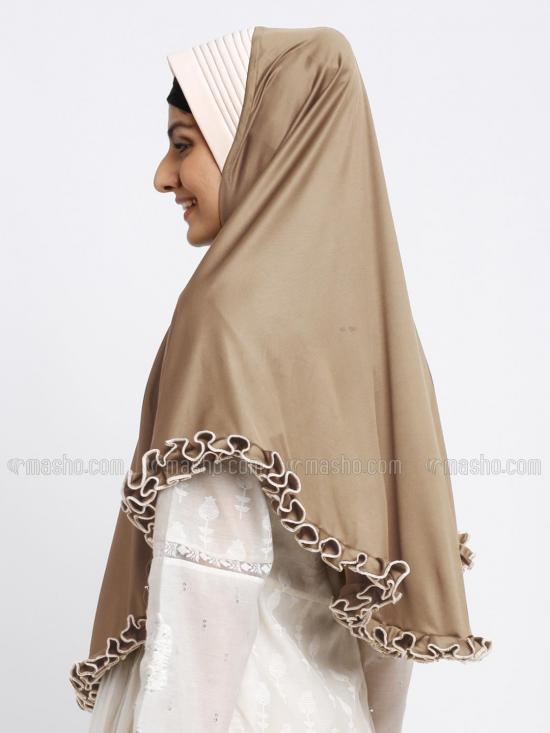 Erina Instant Hijabs In Golden Wheat And Beige