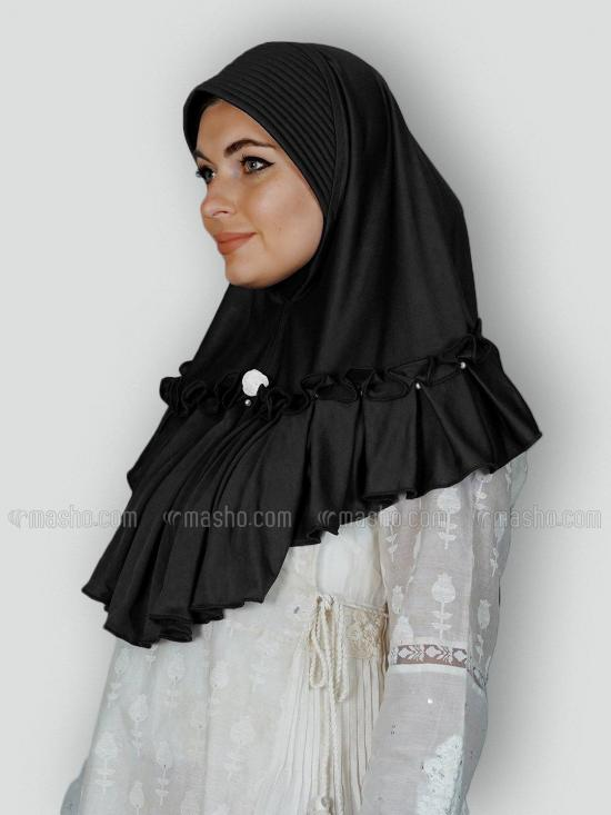 Aaima Instant Hijabs In Black