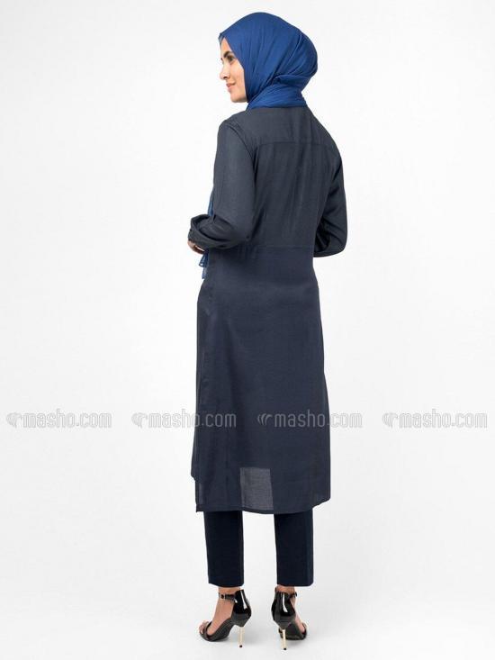 100% Rayon Smart Midi Dress In Black