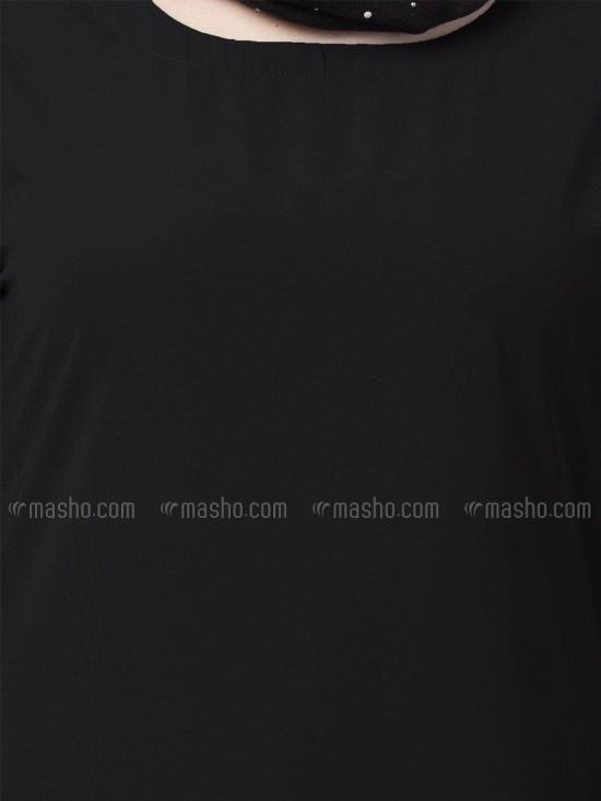 Nida Matte A Line Inner Abaya In Black
