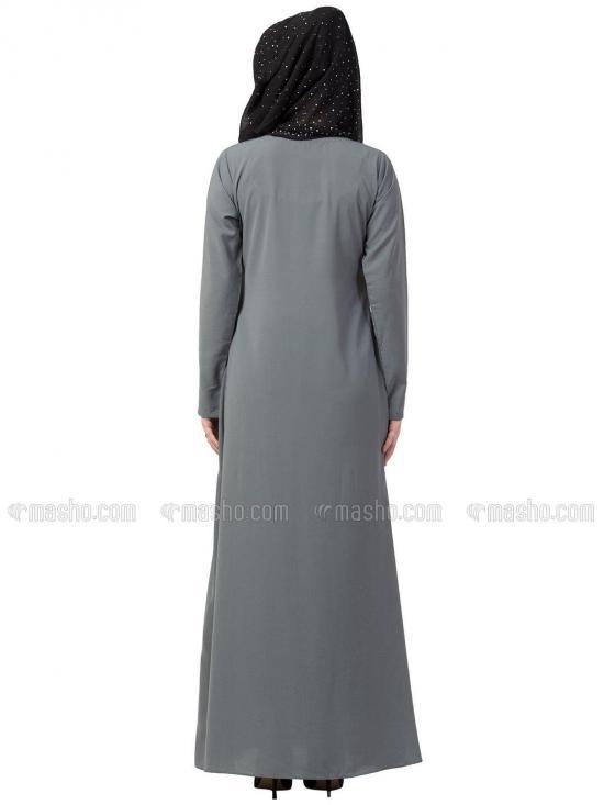 Nida Matte A Line Inner Abaya In Grey