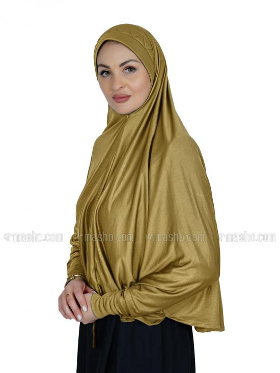 Farashah Instant Hijabs With Sleeve In Mustard