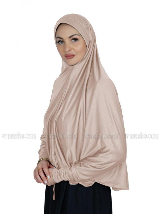 Farashah Instant Hijabs With Sleeve In Cream