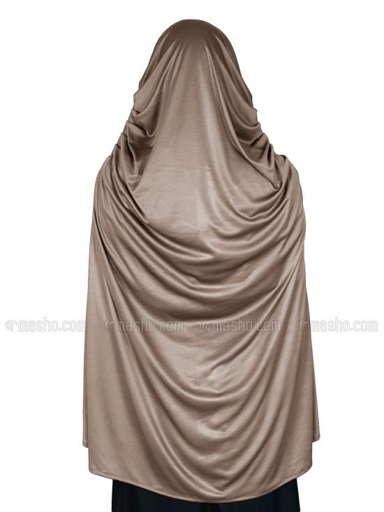 Farah Instant Hijabs In Dark Beige