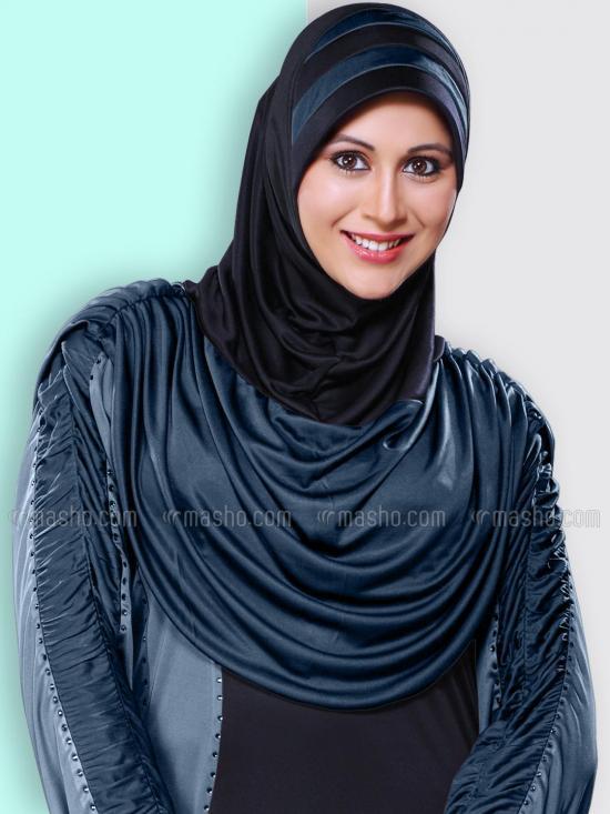 Afeefa Hijab In Black And Grey