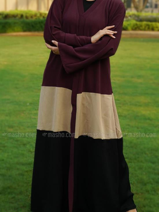 Indonesia Zoom Simple Free Size Front Open Abaya In Multi Colour