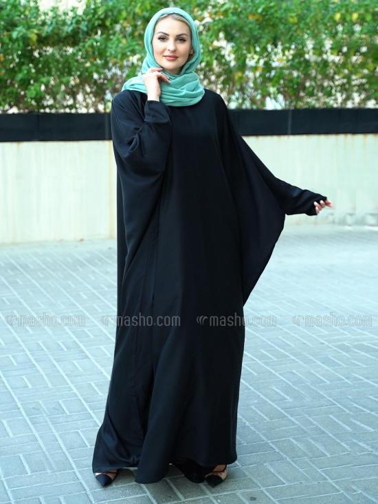 Nida Matte Free Size Kaftan In Black